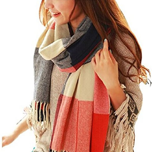 Warm winter scarf